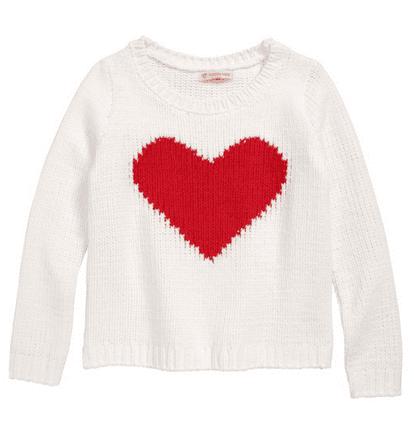 Valentine's day gift ideas - heart sweater