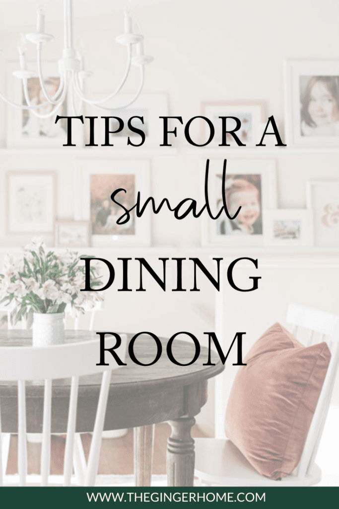 How to make a small dining room functional