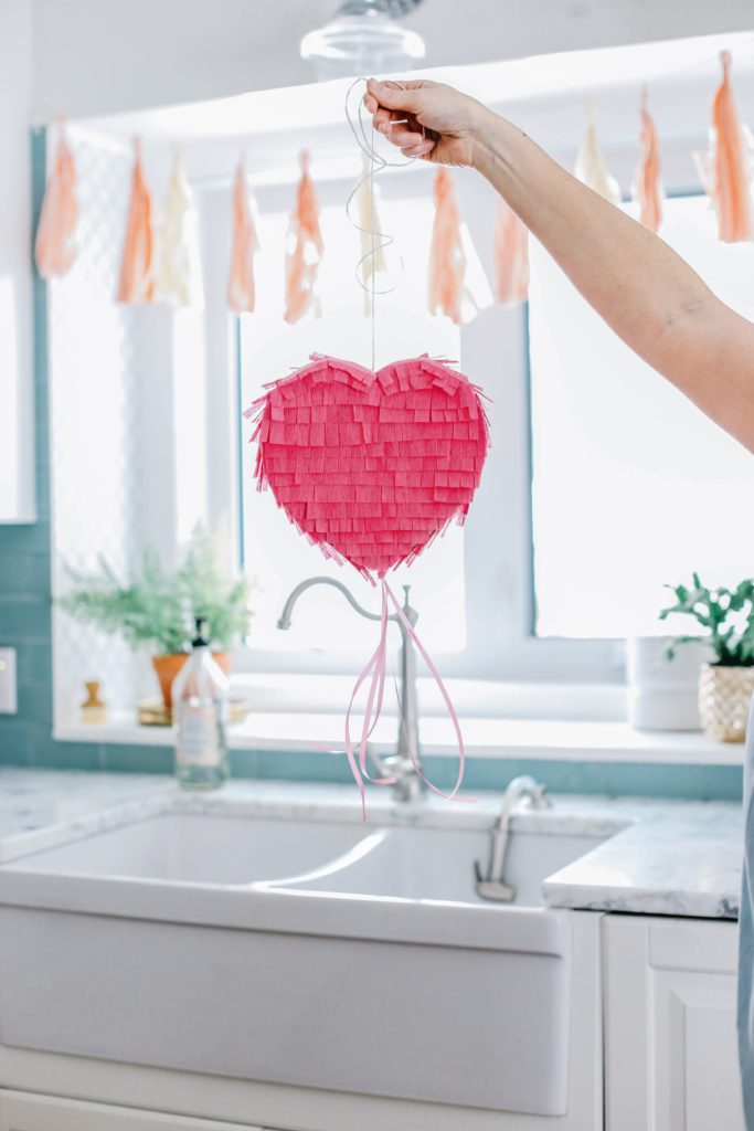 How to make a heart pinata for Valentine's Day