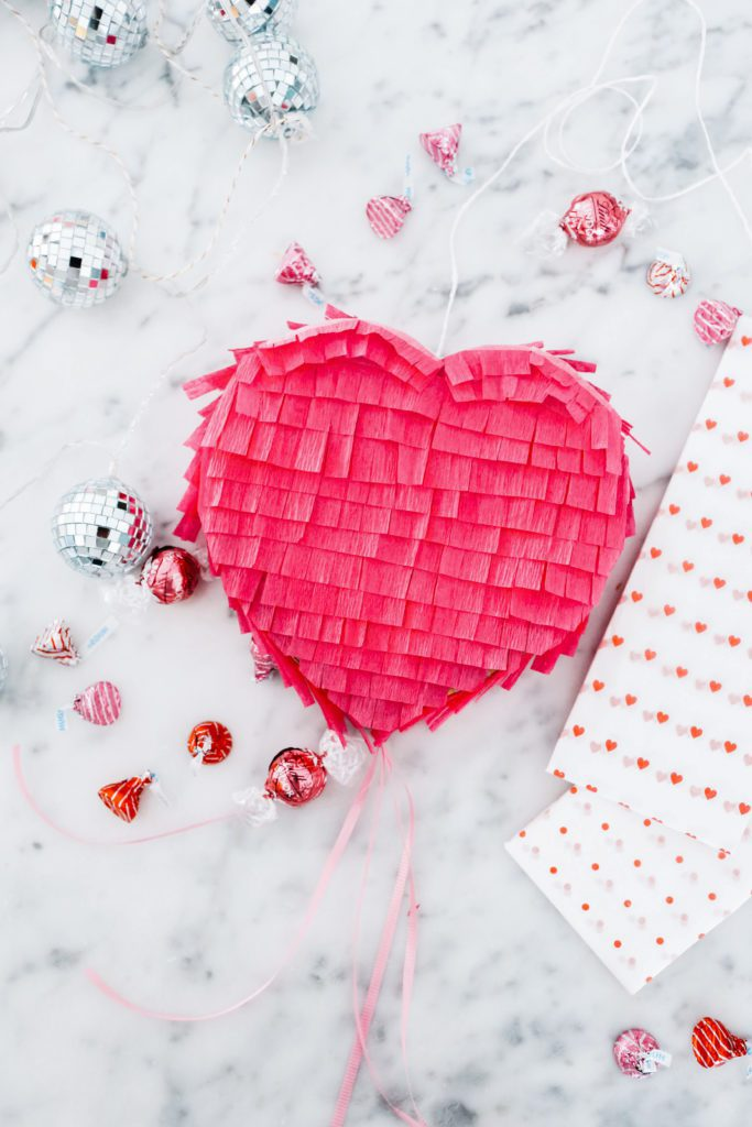 How to make a heart pinata - an easy  Valentine's Day DIY