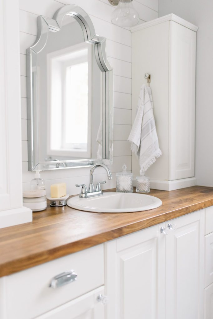 Updated bathroom vanity