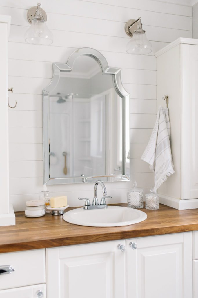 a small master bathroom becomes bright and functional