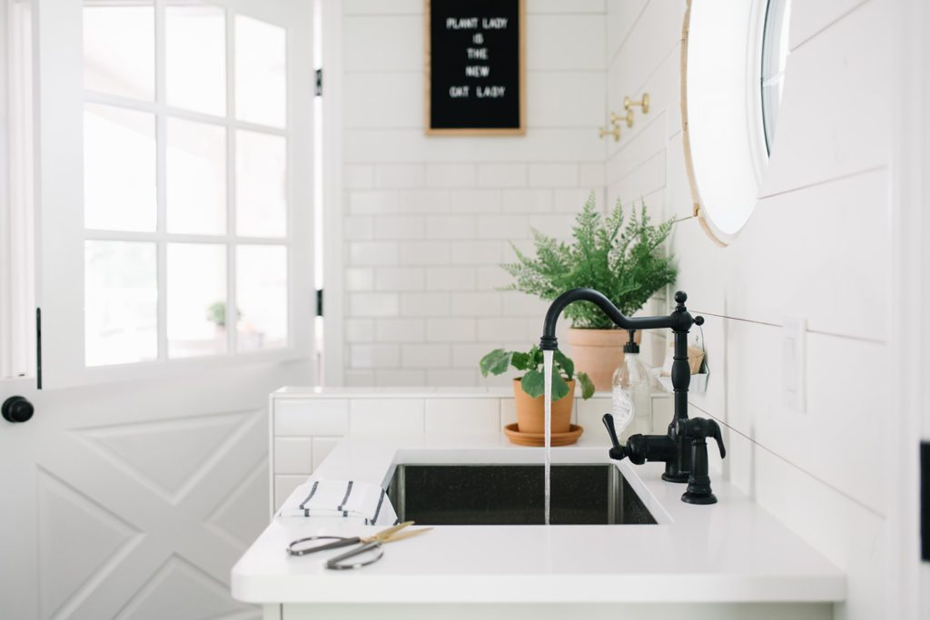 A deep sink is a must in mudroom design