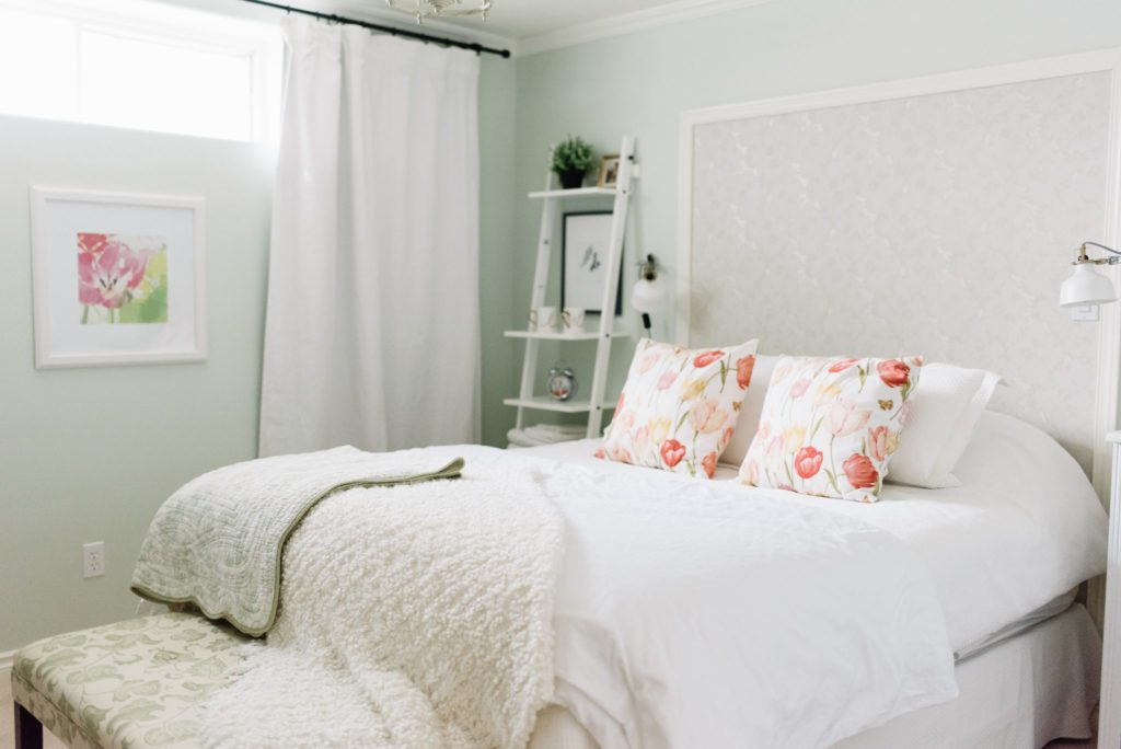 small guest bedroom makeover in this small house renovation
