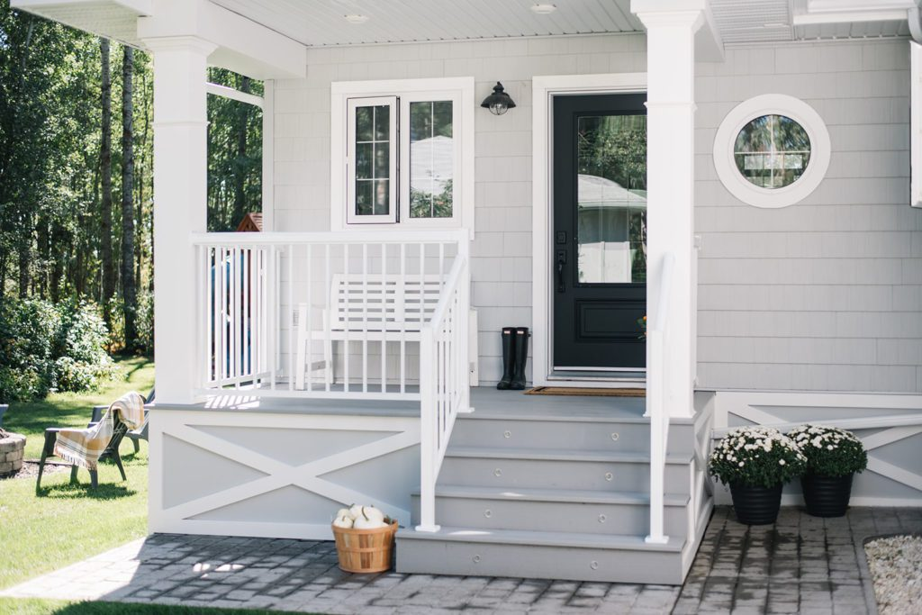 Updated 90s bungalow front porch