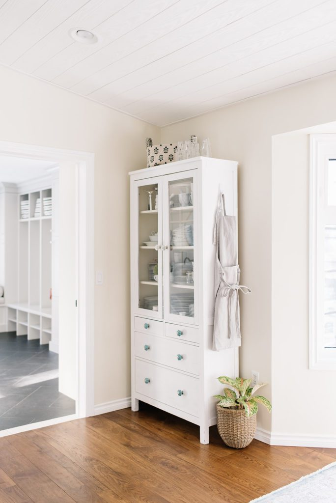 china cabinet in a small dining space