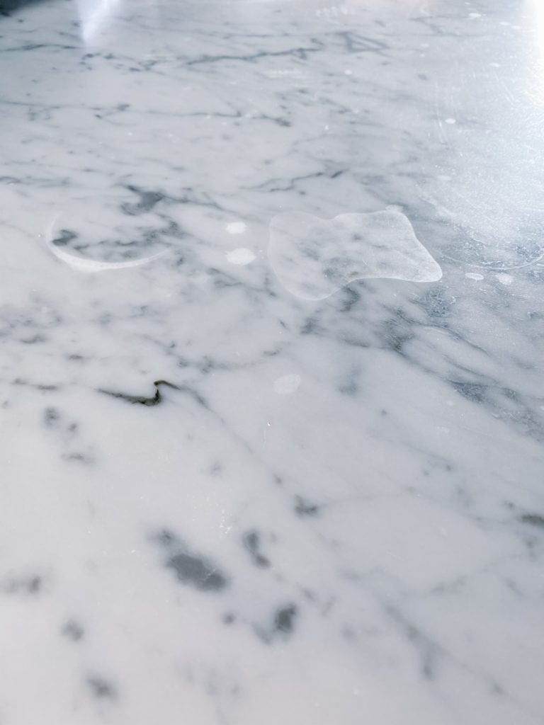 etching and scratches on marble countertop
