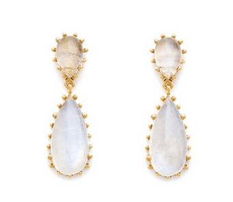 Moonstone drop earrings - Valentine's Day gifts for her