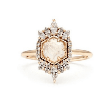 Beautiful moonstone ring - Valentine's Day Gifts for her