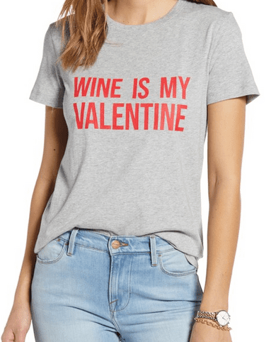 Valentine's day gifts for her - wine tshirt