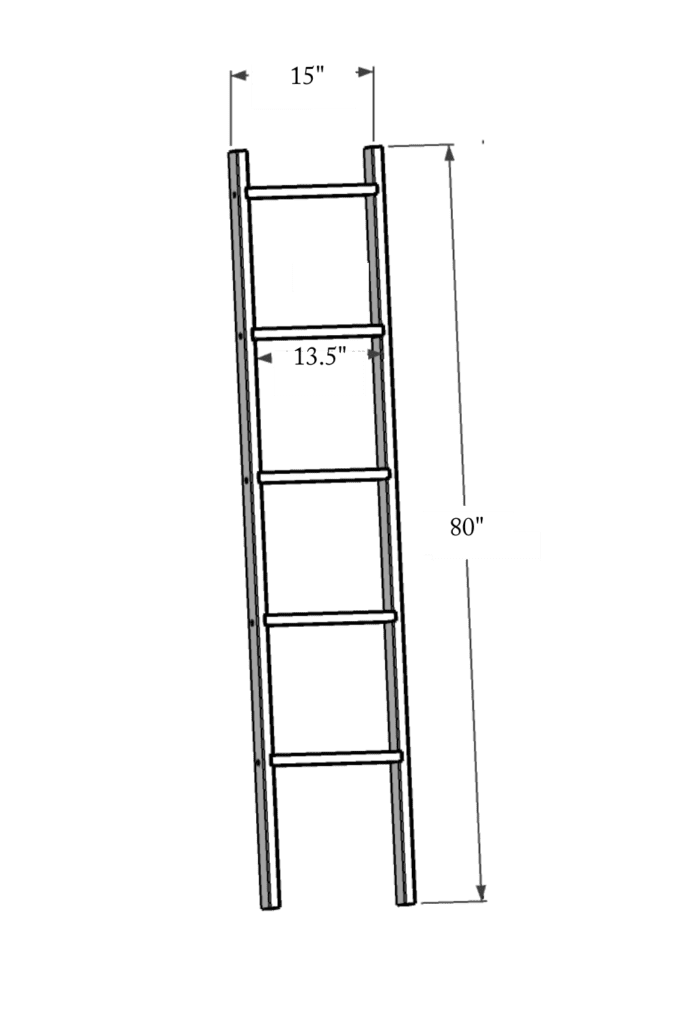 Diy Rolling Library Ladder Tutorial The Ginger Home