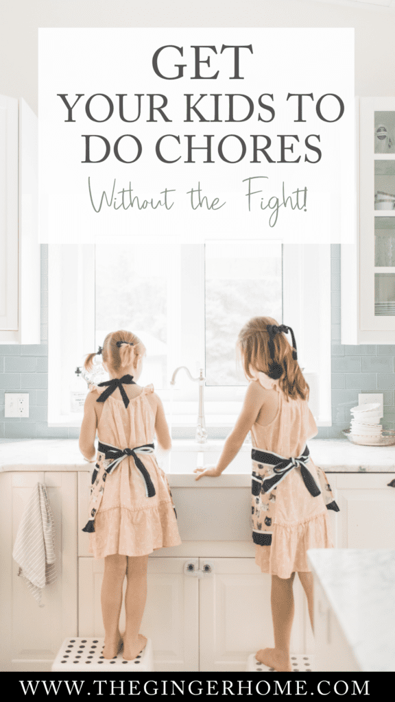 2 girls at a kitchen sink doing chores