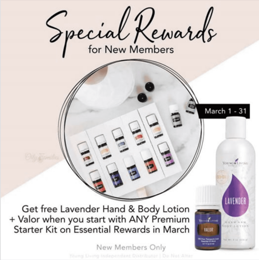 Special rewards and essential oil order ideas