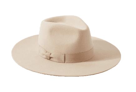 flat brim felt hat
