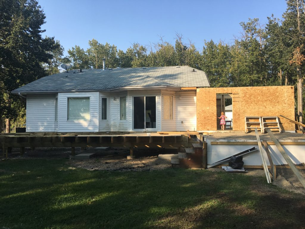 small home renovation - extension on back of house