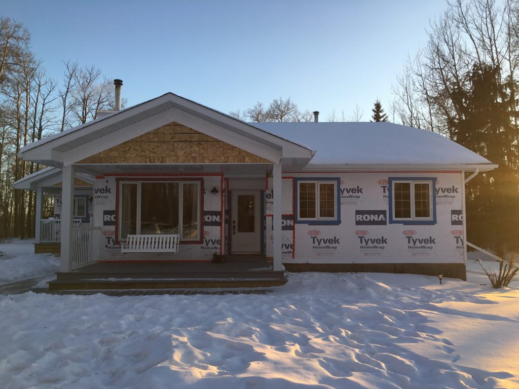 front porch addition almost complete on small home