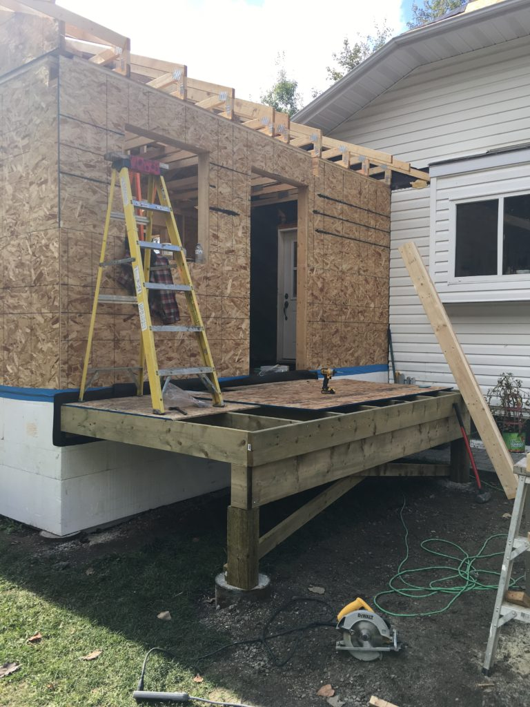 small home extension - framing