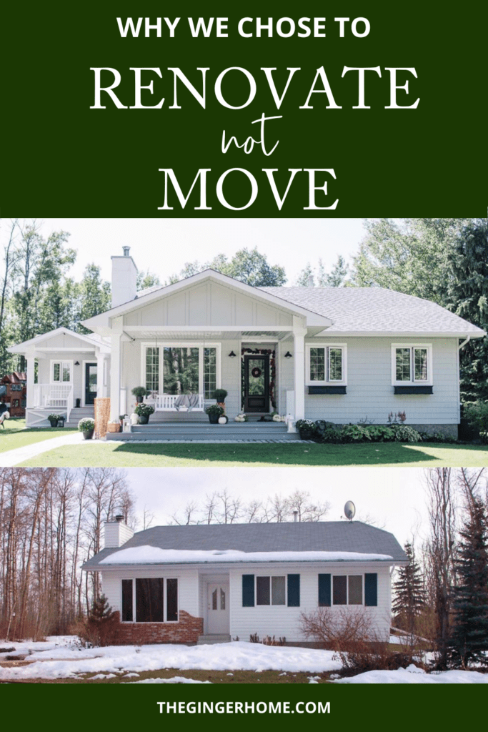 Why we chose to renovate not move