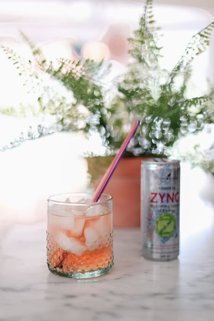 Ninxgia zyng drink on kitchen counter