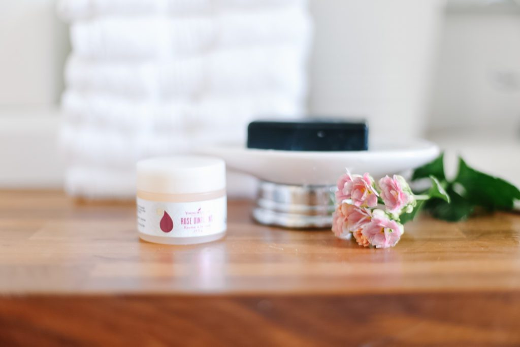 Young living charcoal soap and rose ointment