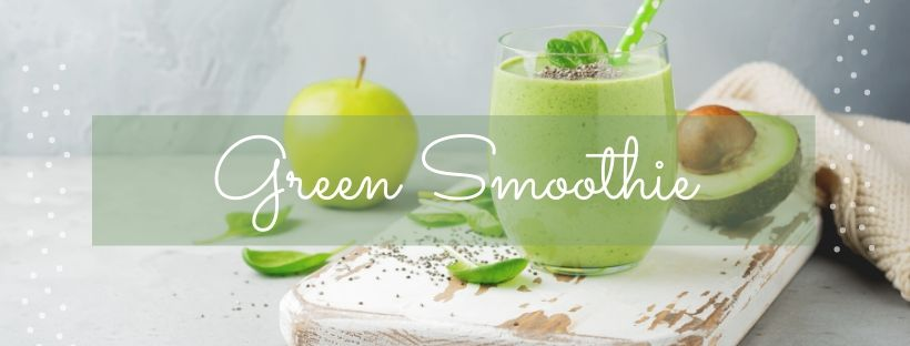 green smoothie with essential oils