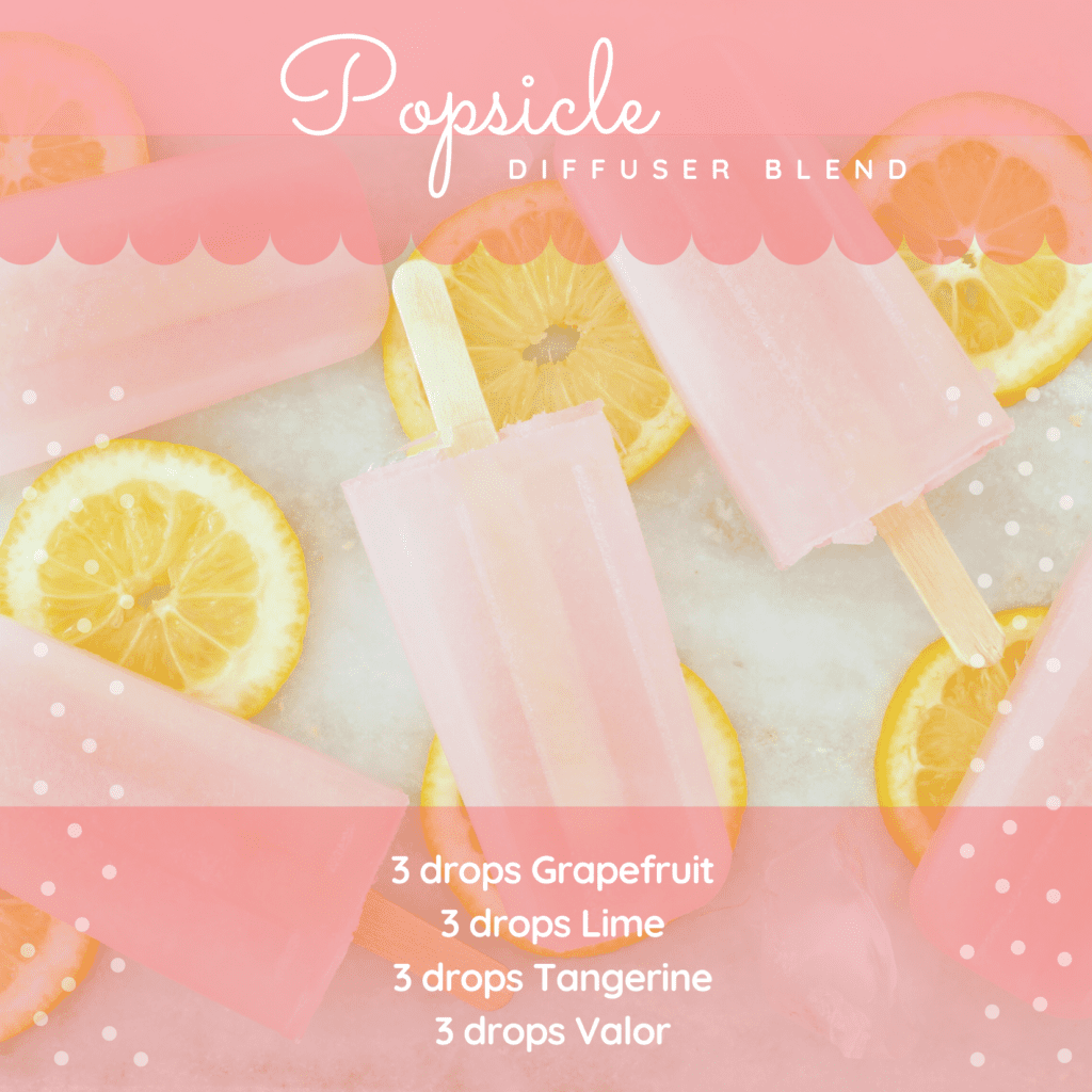 Popsicle essential oil summer diffuser blend