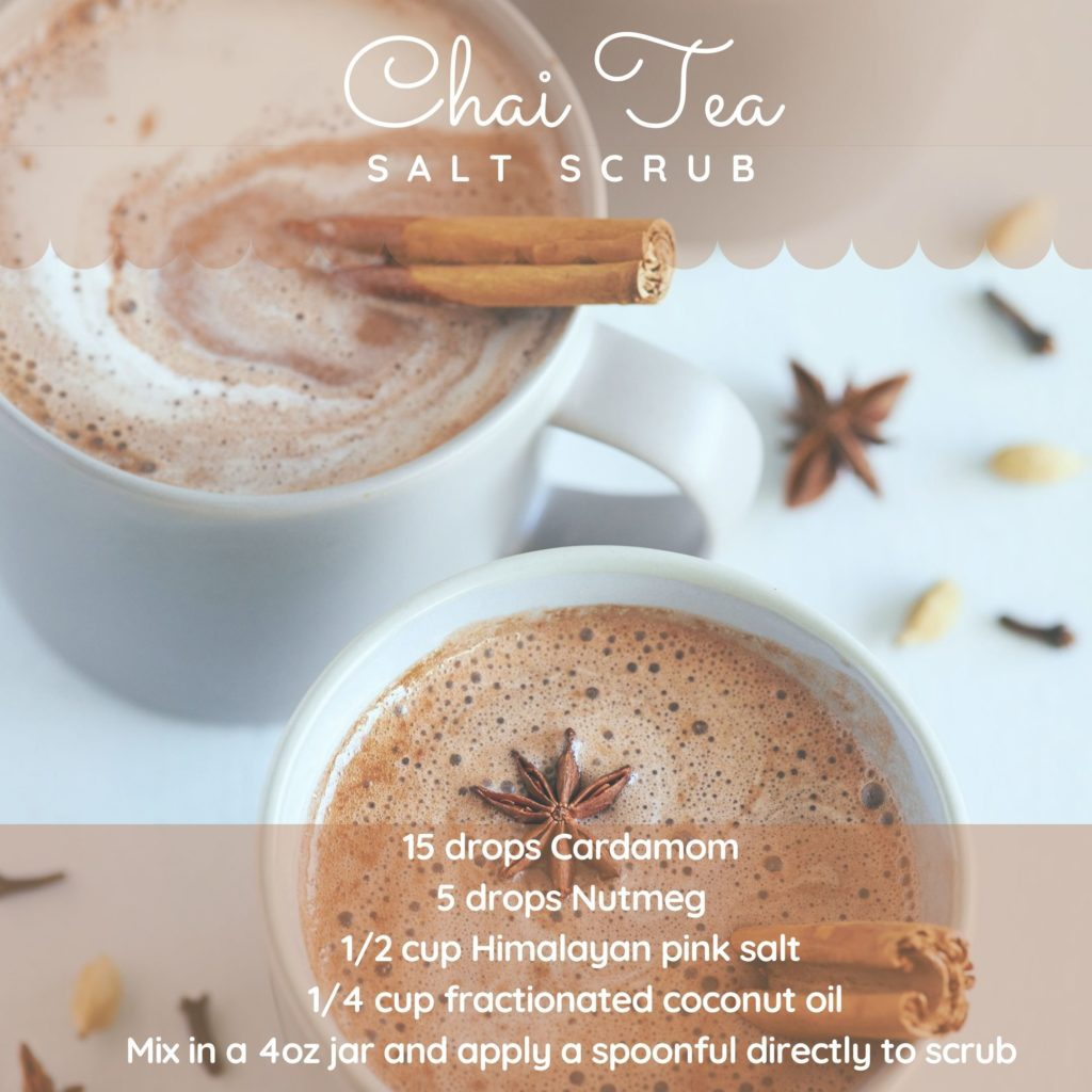 Chai Tea Salt Scrub essential oil recipe