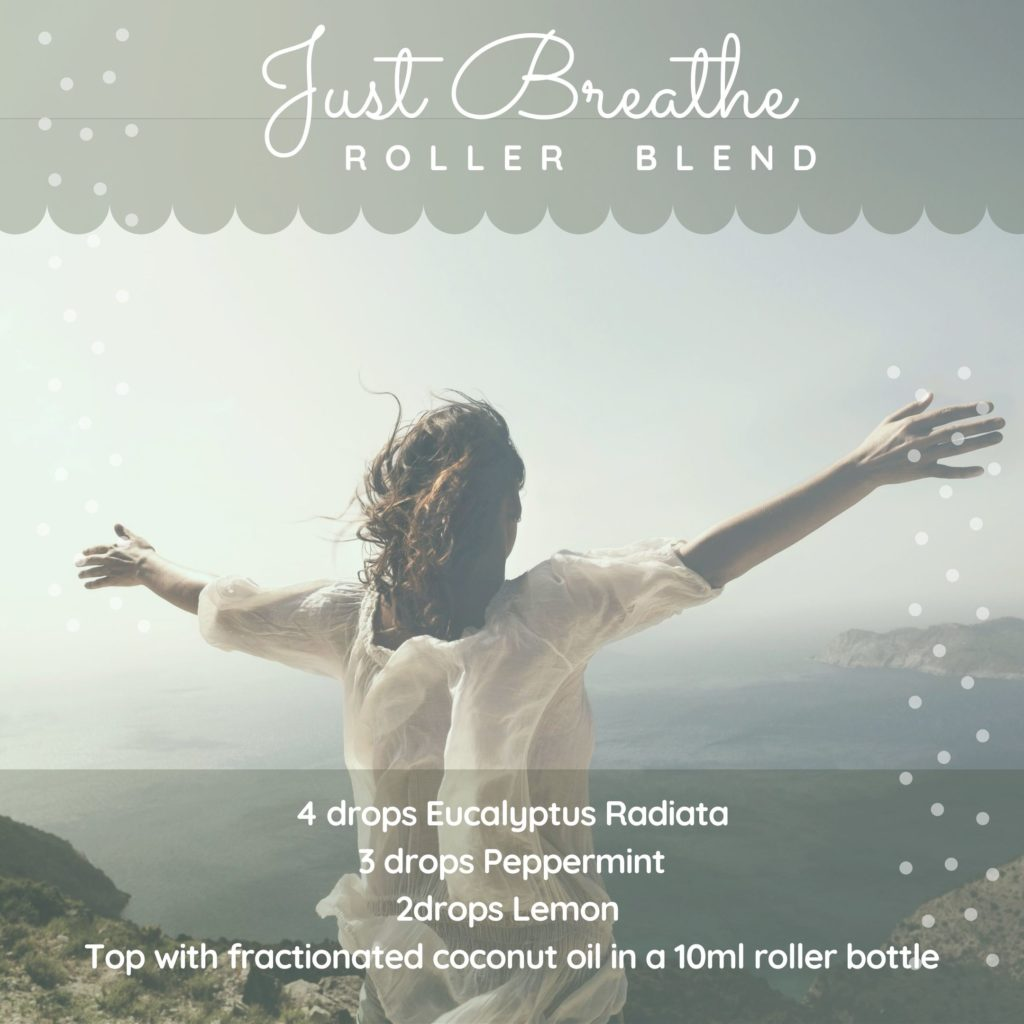 Just Breathe essential oil roller blend recipe