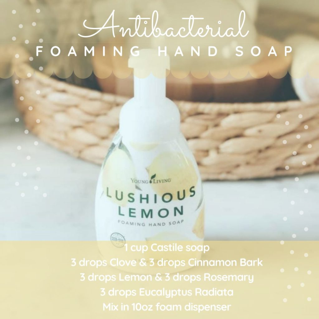 Antibacterial foaming hand soap essential oil recipe