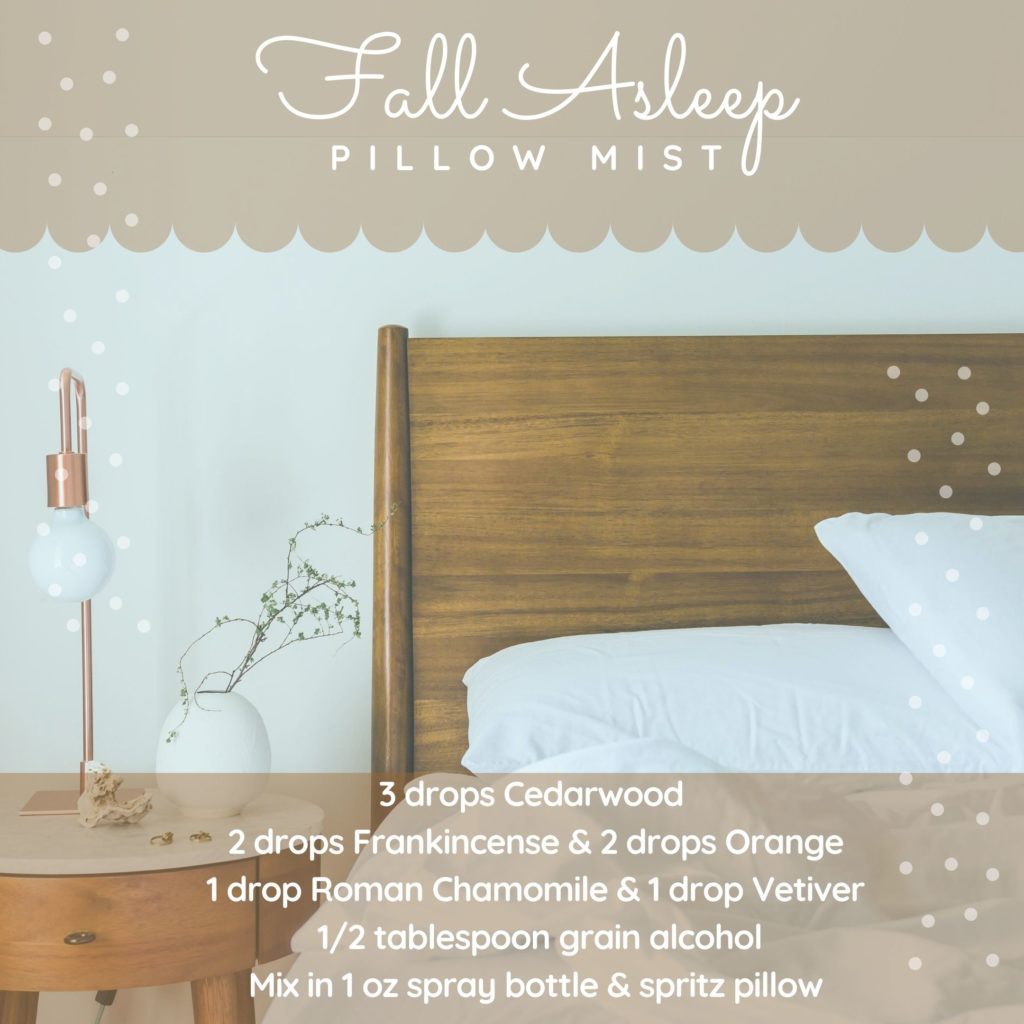 Fall Asleep Pillow Mist Spray essential oil recipe