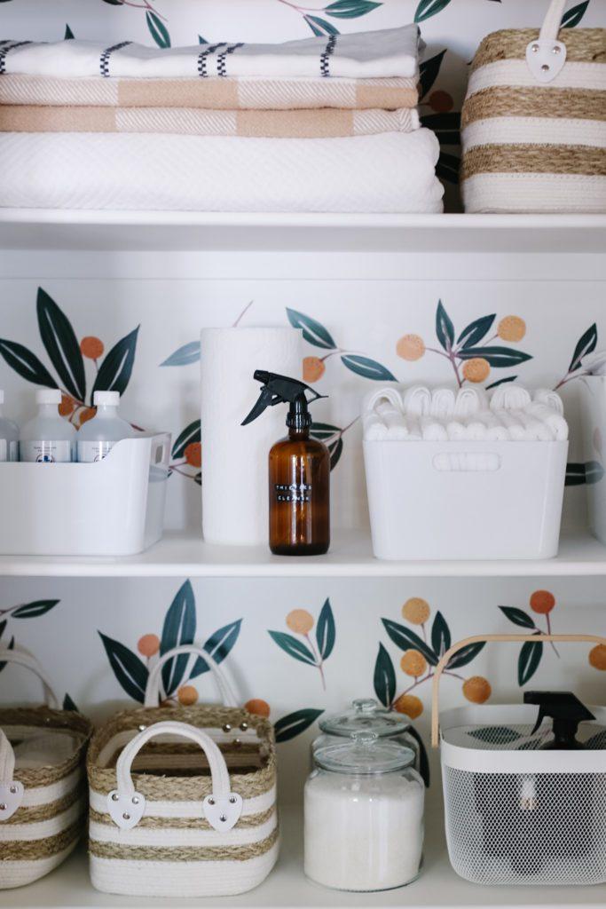 Small organized linen cupboard