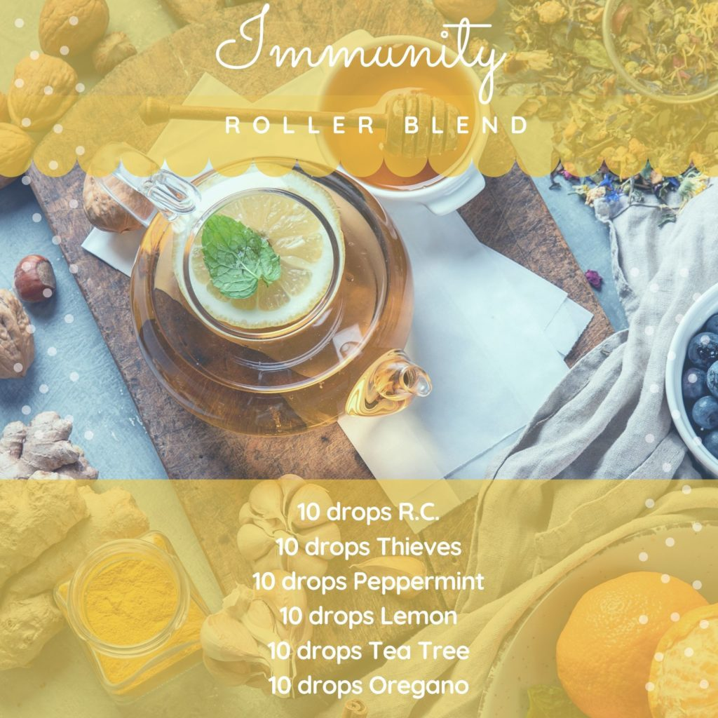 Immunity roller blend essential oil recipe
