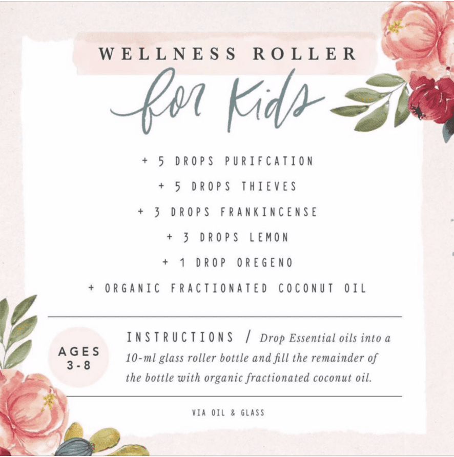 Wellness Roller for kids essential oil blend.