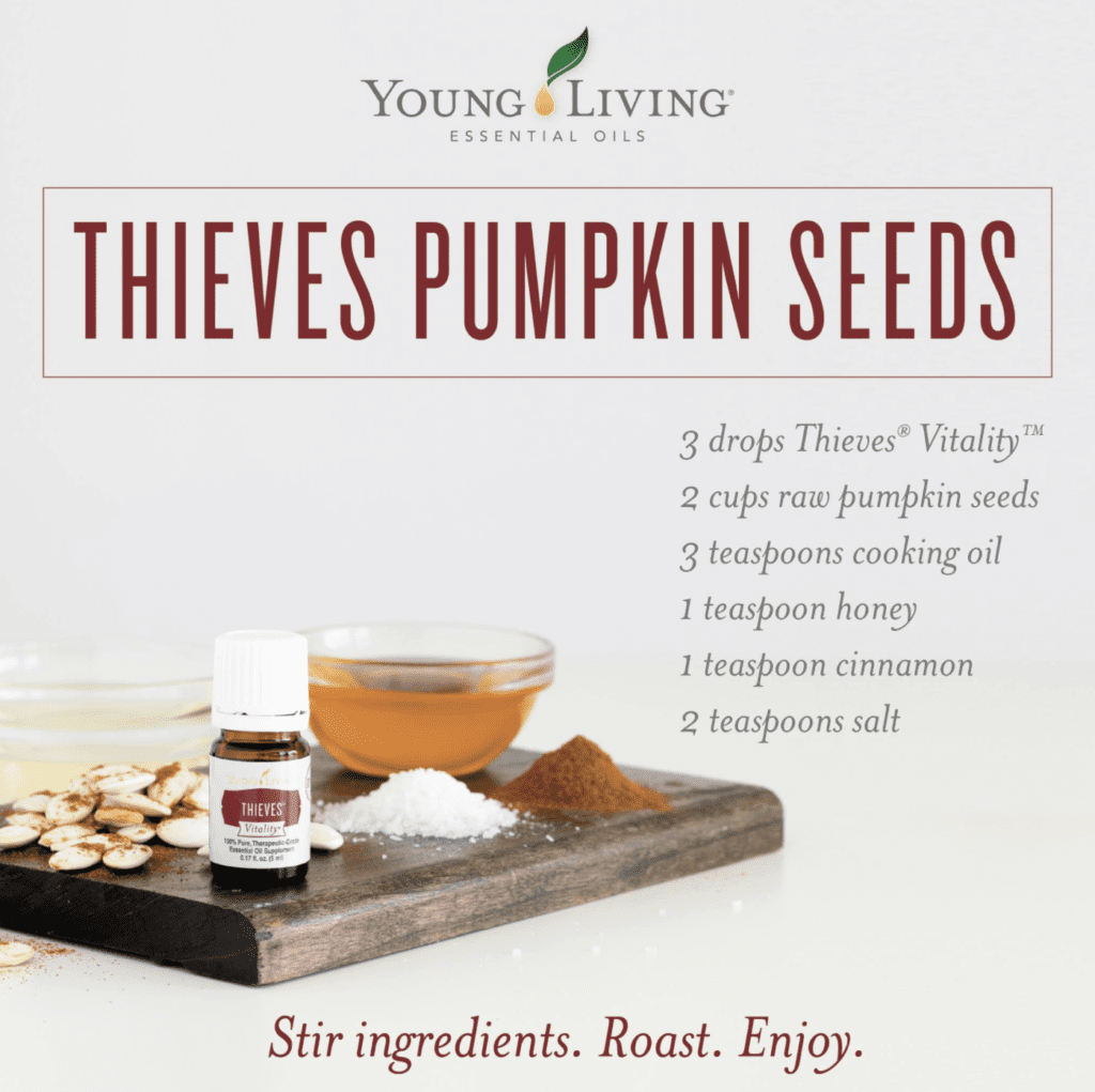 Thieves Pumpkin Seeds essential oil recipe