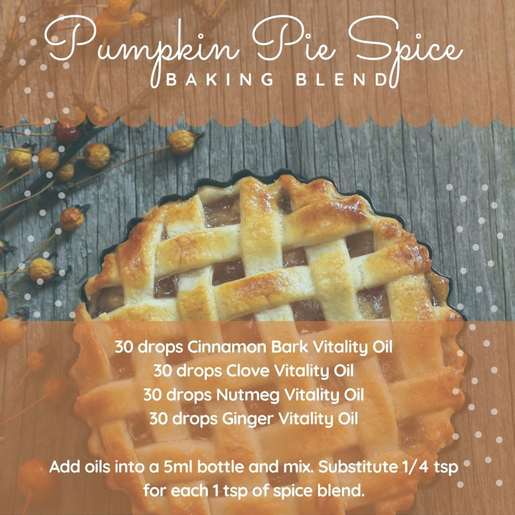 Pumpkin Pie Spice Fall Baking Blend essential oil recipe