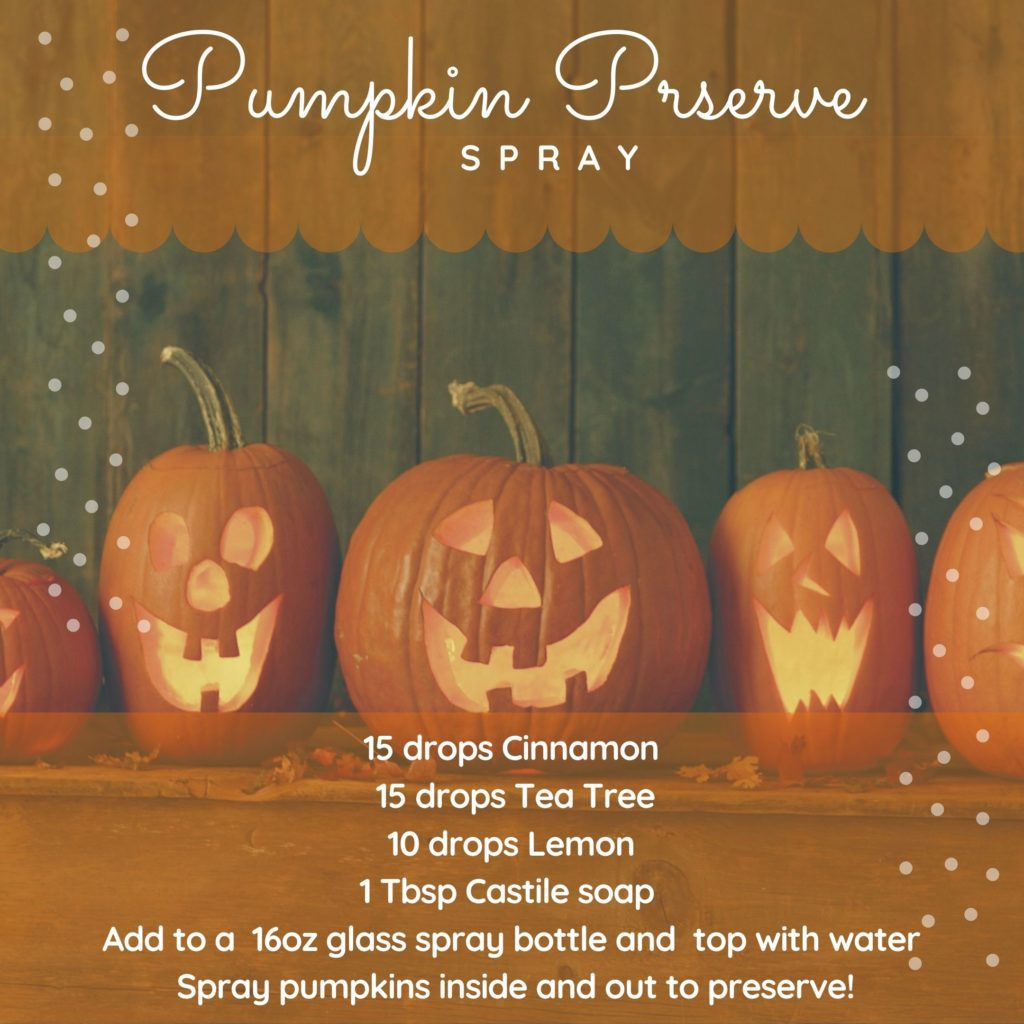 Pumpkin Preserve essential oil DIY spray recipe