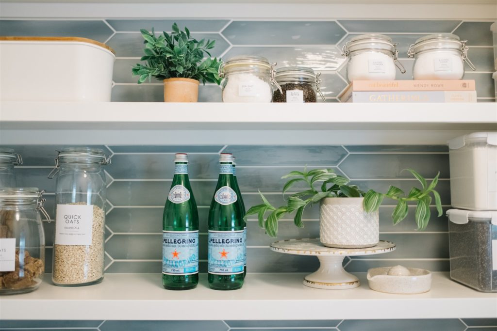 Styled pantry shelving