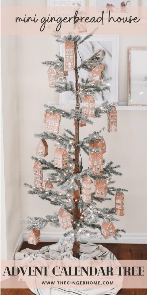 DIY Gingerbread House Advent Calendar Tree
