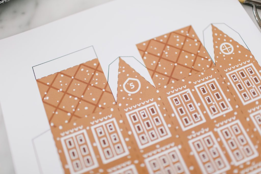 printable gingerbread house template