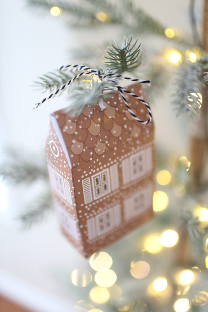 DIY gingerbread house advent calendar