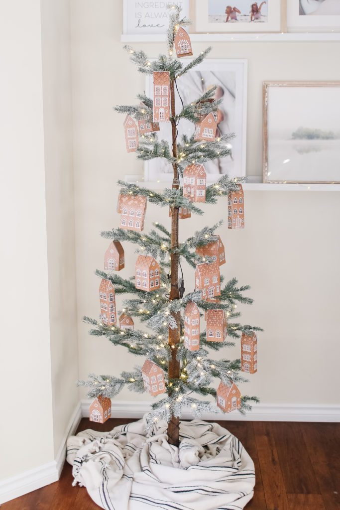 Gingerbread House Advent Calendar Tree