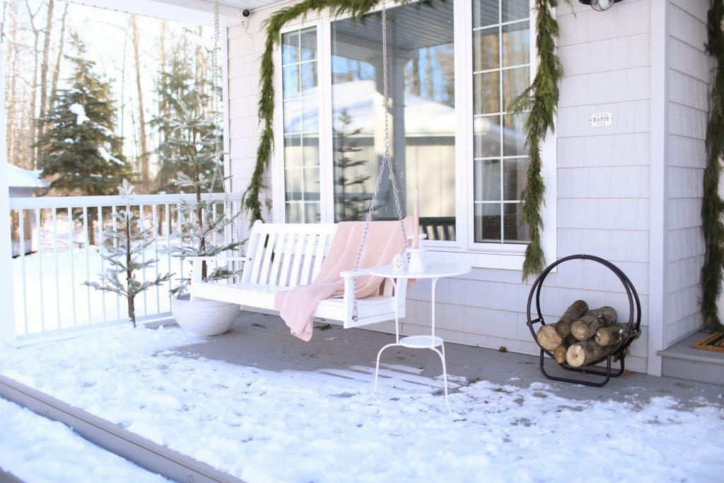 Winter front porch Styling