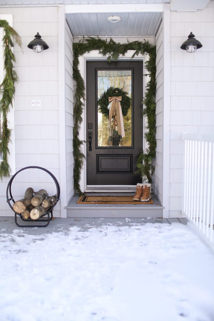 Christmas front porch styling.
