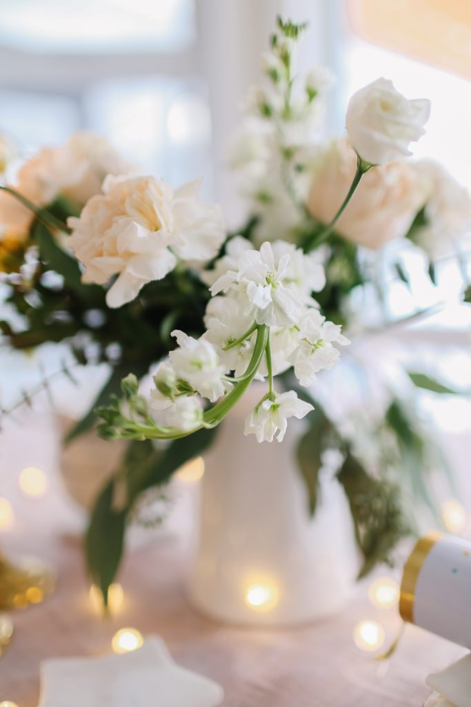 soft pink and white flower arrangment