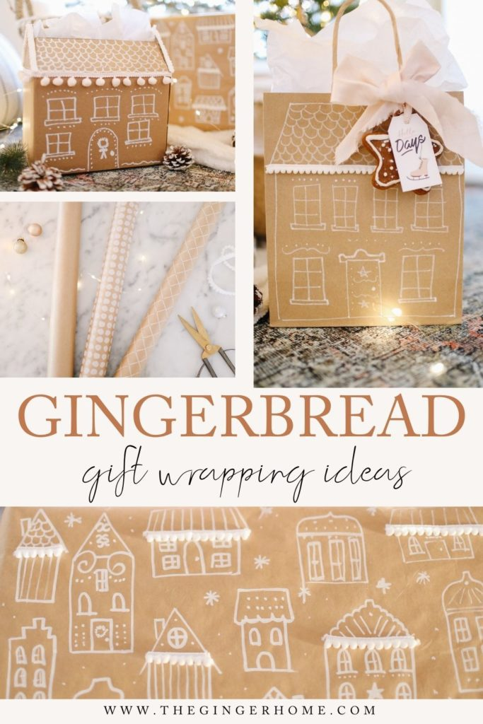 Gingerbread Holiday Gift Wrap Ideas