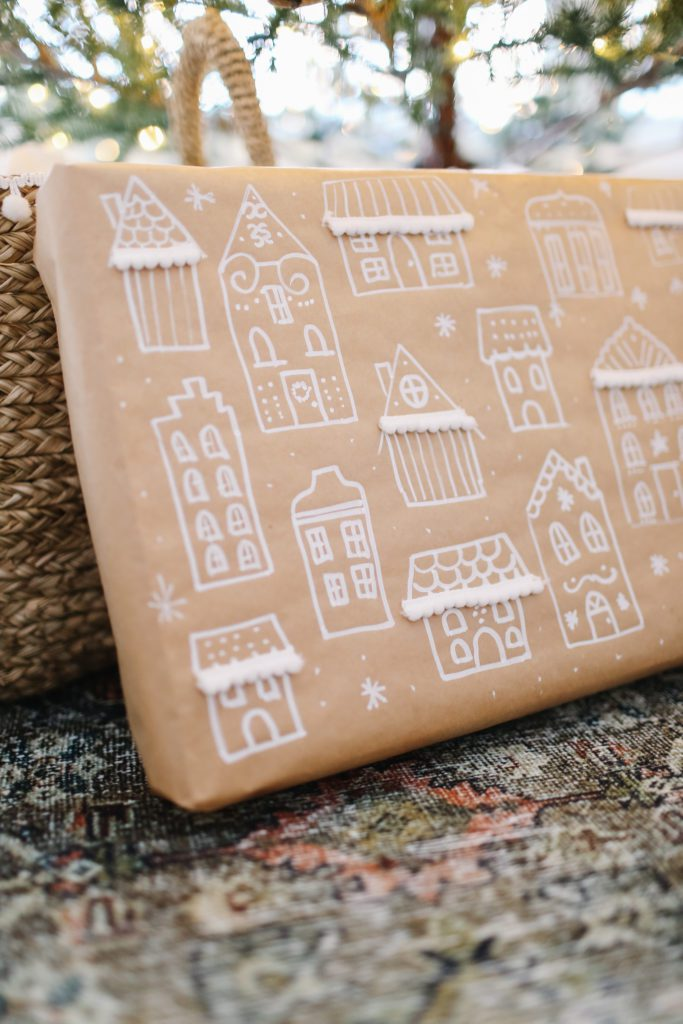 DIY Gingerbread House Print Wrapping paper!