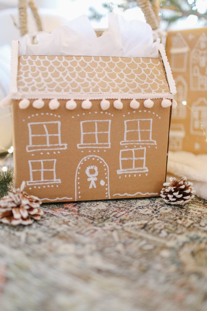How to make your own DIY gingerbread house gift box.