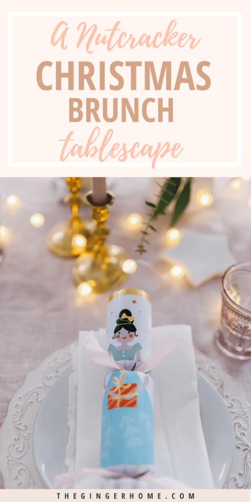 Nutcracker Christmas brunch tablescape