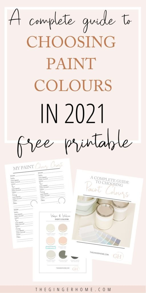 A complete guide to choosing paint colours
