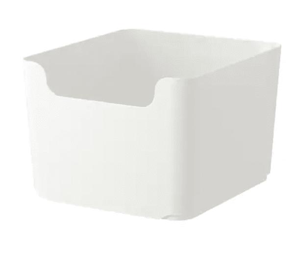 Large white plastic storage bin